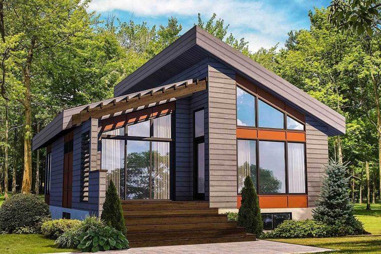 Modernist Tiny House Plan 80774PM