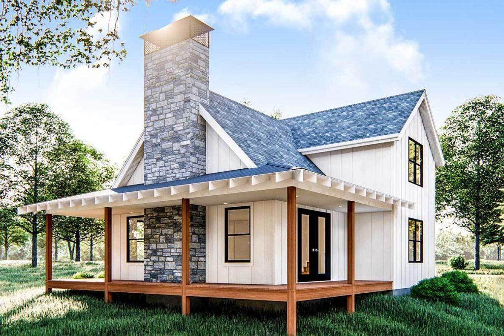 Modern Farmhouse Tiny Home - Cabin Plans With Loft