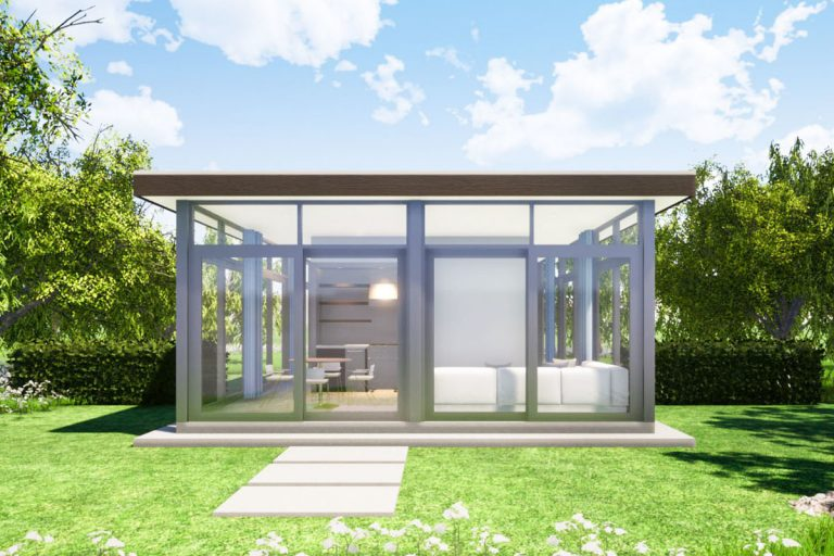Glass Tiny House from Architectural Designs
